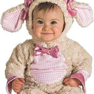 Baby pink lamb costume